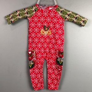 Jelly the Pug One Piece Christmas Outfit Size 6M